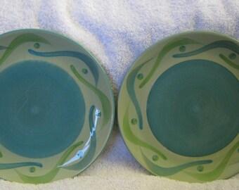 Gail Pittman Plates Swirl Provence Southern Living 7 inch plates PAIR EUC Southern Living at Home