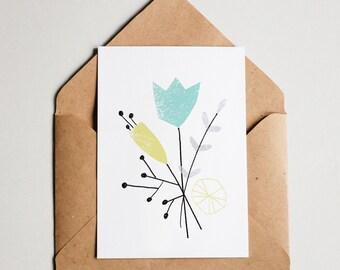Flower Cards set of 9