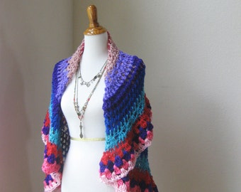 Multicolor Mandala Bohemian Vest Crochet Boho Chic Women Vest Fashion Spring Summer Hippie Vest