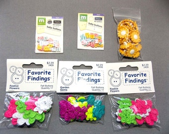 6 Packages Mini Buttons. New and have not Been Opened