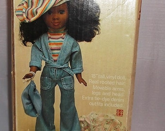 Shindana Doll- Kin Jeans 'N Things