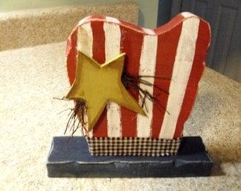Chunky 7 x 5 uncle sam patriotic/americana/wood/hat