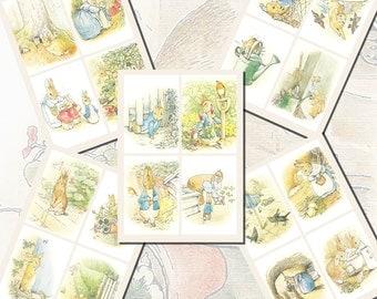 Beatrix Potter's Peter Rabbit Printables, POSTCARD SIZE,  (3.5 x 5 Inch  or 12.7 x 8.8 cm), 20 Total