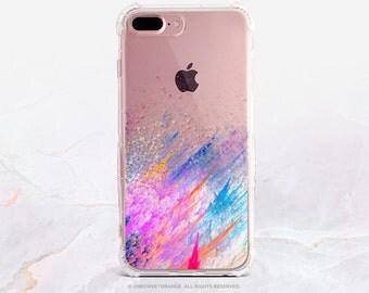 iPhone 7 Splatter Clear Rubber Case iPhone 7 Plus Clear Case iPhone 6 Clear Case iPhone 6S Case iPhone SE Case Samsung S7 Edge Case U106