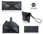 Travel leather wallet set of 2 UNISEX envelope wallet - leather clutch - leather purse - passport wallet holder handmade travel purse gift