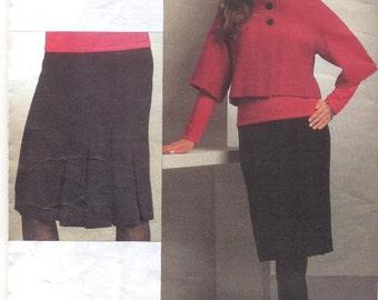 Vogue V1062 Misses Jacket and Skirt Sewing pattern, Anne Klein