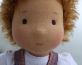 """ready for shipment - Waldorf doll- boy  """"Yosya""""  for children from 2 years-13.5 inches"""