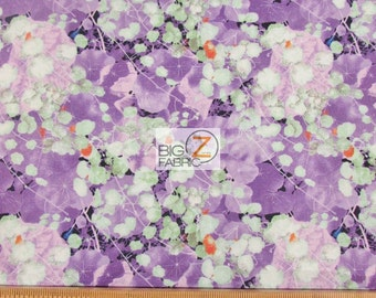 100% Cotton Fabric By Windham Fabrics - Violet Farewell Garden - Sold By The Yard (FH-2437)