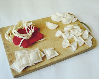Pasta set - felt food DYI pattern and tutorial - instant download - super easy ENGLISH - PDF