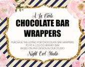 Chocolate Bar Wrappers-À La Carte Candy Bar Wrappers-Chocolate Bar Labels-Printable