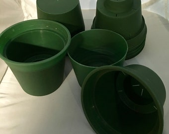 """6 Green Oyama Self Watering African Violet Pots  Size 5"""""""