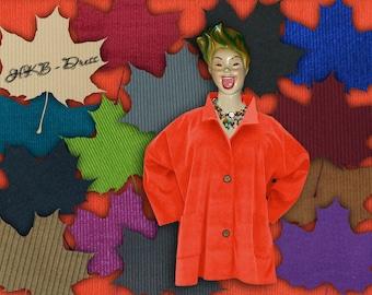 Corduroy, Plus Sizes - US 18 - 34, UK 20 - 36 Layered-look fantastic plus size jacket,orange