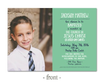 Custom Baptism Invitation printable Primary 8 is great LDS Choose the Right Invite Boy CTR