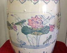 Vintage Chinese Asian Oriental Plant Stand Pot plantstand end table stool