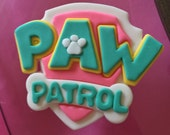 Pink Paw Patrol Inspired Fondant cake topper