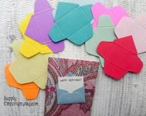 Tiny Envelopes Die Cuts - Mini Die Cut Envelopes - Assorted colors - 40 pieces