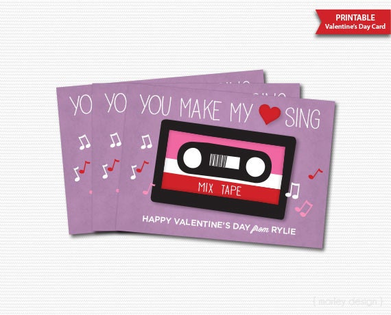 you make my heart sing valentines you make my sing valentines cards printable 7949
