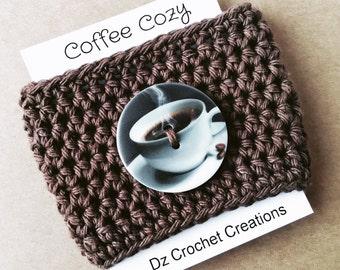Coffee Cozy, Crochet Coffee Cozy, cozy, Mug Cozy, Cozy, Mug, Cup Cozy, Coffee cup cozy, Coffee Cozy Sleeve, crochet Coffee cozy, Button