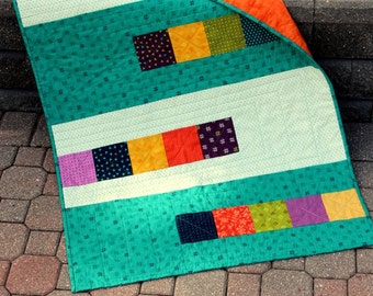 Fast Five Patch quilt pattern - printed and posted pattern - quick and easy quilt pattern - baby size and twin size quilts