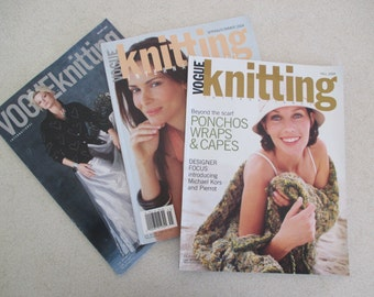 Vogue Knitting  2004 3 issues sold as a set