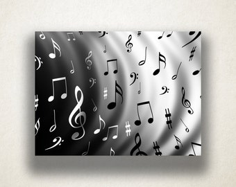 Music Notes Canvas Art Print, Music Wall Art, Music Design Canvas Print, Close Up Wall Art, Canvas Art, Canvas Print, Home Art, Wall Art