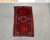 SUMMER CLEARANCE Persian Rug - 1980s Hand-Knotted Karaja Persian Rug (3420)