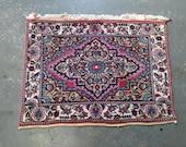 1970s Hand-Knotted Rudbar Hamadan Persian Rug (3450)