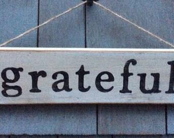 Grateful Rustic Sign