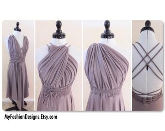 Infinity Dress, Cocktail dress, multi Way dress Convertable, Adjustable, Asymmetric, halter dress