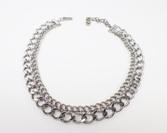 Vintage Chain Link Choker Necklace