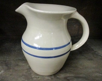 Paul Storie Pottery Marshall, Texas Double Ring Small Pitcher Crock