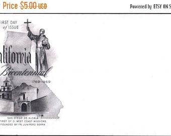Sizzlin Summer Sale 1969 First Day of Issue California Bicentennial 1769 - 1969