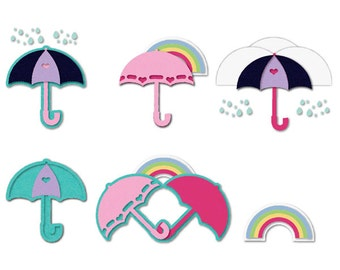 Sizzix - Triplits Die Set 9PK - Umbrellas by Stephanie Barnard