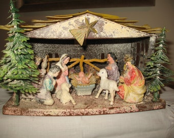 The 1950 Nativity creche