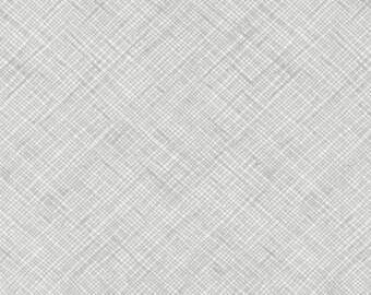Grey Crosshatch by Carolyn Friedlander Gray and White Fabric - Architextures -  Robert Kaufman - Gray Crosshatch - Gray Fabric Architextures