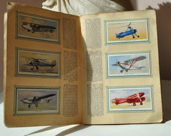 AEROPLANES airplane CIVIL cigarette cards book John Player and Sons 1935 IMPERIAL tobacco company of Great Britain and Ireland airplane card