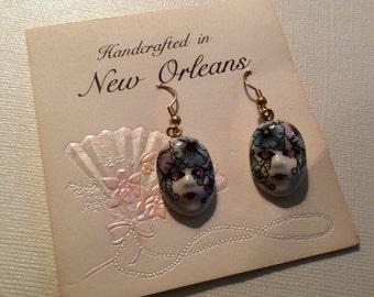 Mardi Gras masks earrings