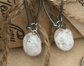 White Crackle Bead Earrings, Handmade Gemstone Earrings, Designer Earrings, OOAK Earrings, K Brown Jewellery