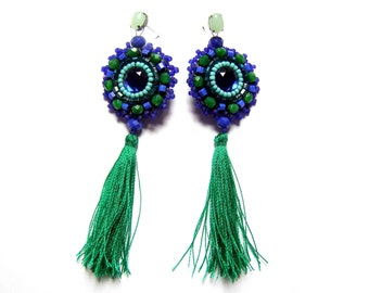 Bead embroidered earrings - Nawojka