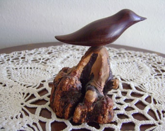 Handmade H. Ray Ford Bird Carving Wood