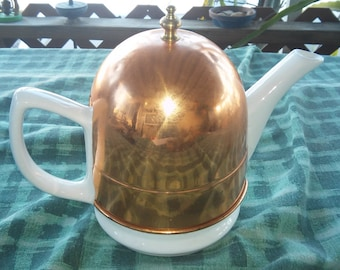 Collectible Ceramic Teapot w/Copper Sleeve. L@@K!!!