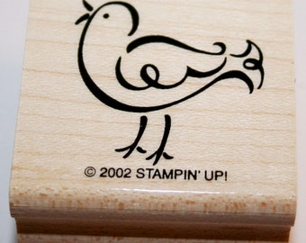 Bird Outline Rubber Stamp from Stampin Up