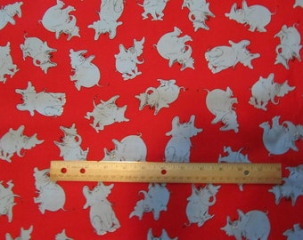 Red/Gray Horton Hears a Who Cotton Fabric by the Yard