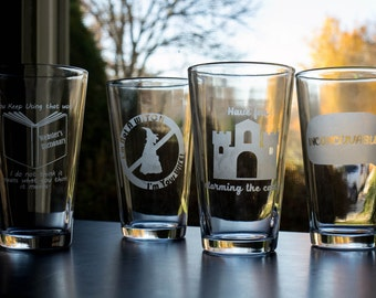 The Princess Bride Quotes Etched Pint Glasses (set of 2)