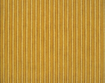 Stripes Yellow/Gold - Christmas in Bloom Collection - Clothworks Y1507-69 (sold by the 1/2 yard)