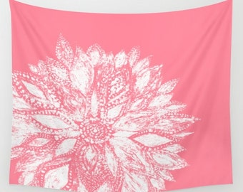 Pink Wall Tapestry light pink flower wall tapestry pink wall tapestry blush