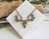 Bronze Antler Necklace