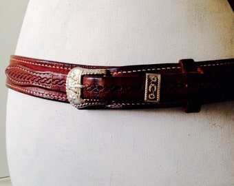 Leather belt for her