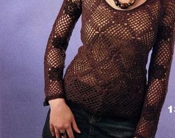 Crochet Pull Crochet Dress Beach Dress Crochet Tunic Beach Tunic To Order  FREE SHIPPING