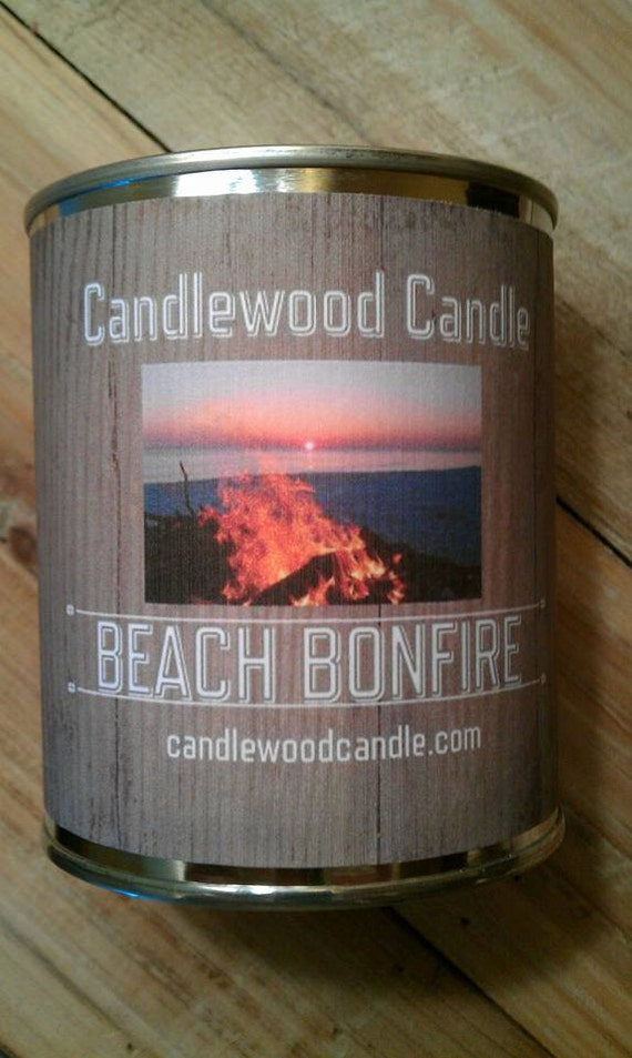 BEACH BONFIRE -PERSONALIZED Gift, Gift for anyone, Custom Gift, Send your message, Free Shipping in United States 16 oz